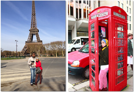 premium beautiful london and paris