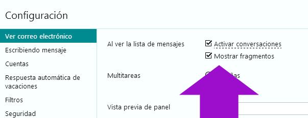 Cambiar la prevista de mensajes en Yahoo