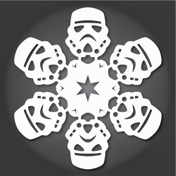 How to Make Star Wars Snowflakes With Paper, Scissors, and the Force ...