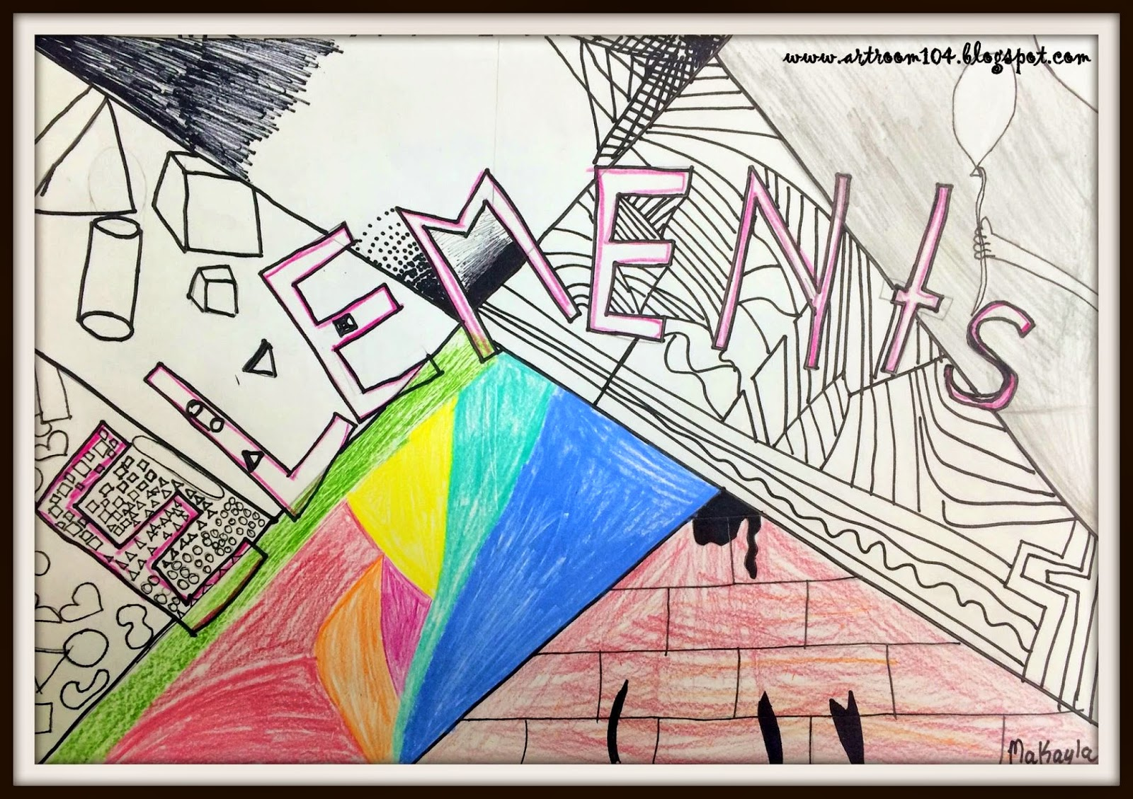 3 Elements Of Art : Art room elements of project