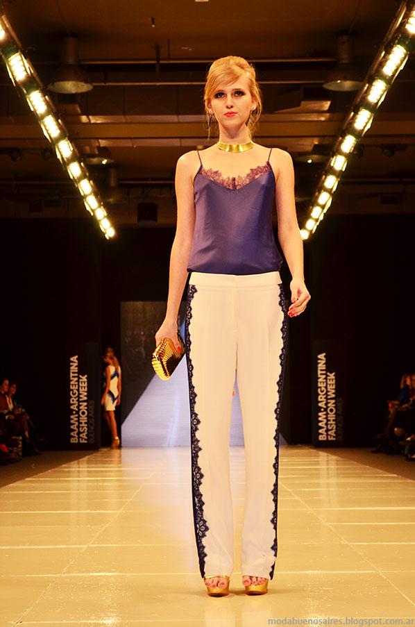 Laurencio Adot primavera verano 2014 pantalones de verano.