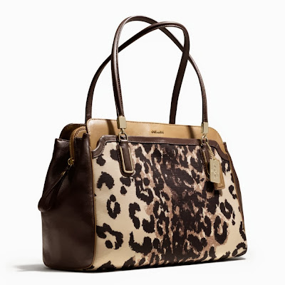 COACH Madison Kimberly Ocelot Print Carryall 25207