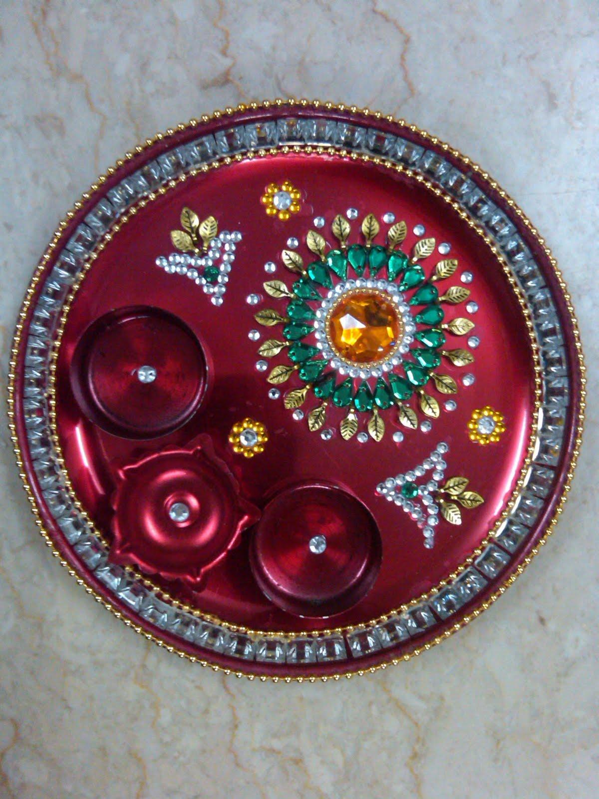 Ranjana arts www ranjanaarts com july 2011 for Arti thali decoration