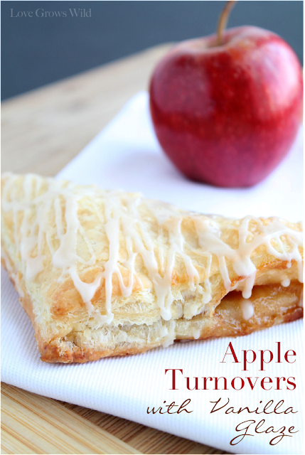 Apple Turnovers with Vanilla Glaze Recipe from Love Grows Wild for Sumo's Sweet Stuff #recipe #apple #breakfast