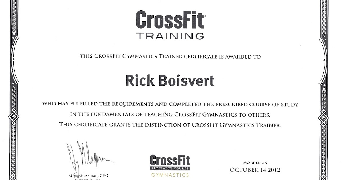 Fitness For Life Crossfit Gymnastics Trainer Certification