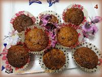 Muffin con yogurt, gocce di ciocolato e farina di cocco