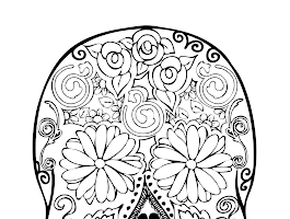 Sugar Skull Coloring Pages Advanced