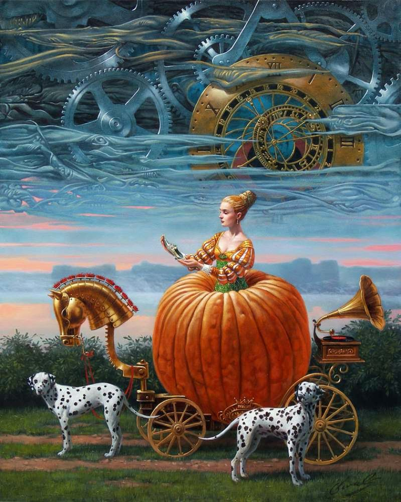 04-Michael-Cheval-Time-To-Be-A-Queen-Surreal-Absurdist-Paintings-www-designstack-co
