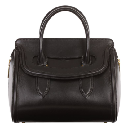 Alexander McQueen Black Leather Heroine Tote