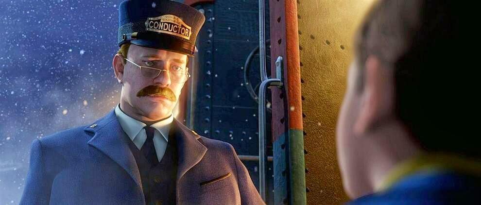 """Том Хэнкс вышел новый анимационный фильм  «Полярный экспресс»,  Tom Hanks was a new animated film """"The Polar Express"""""""