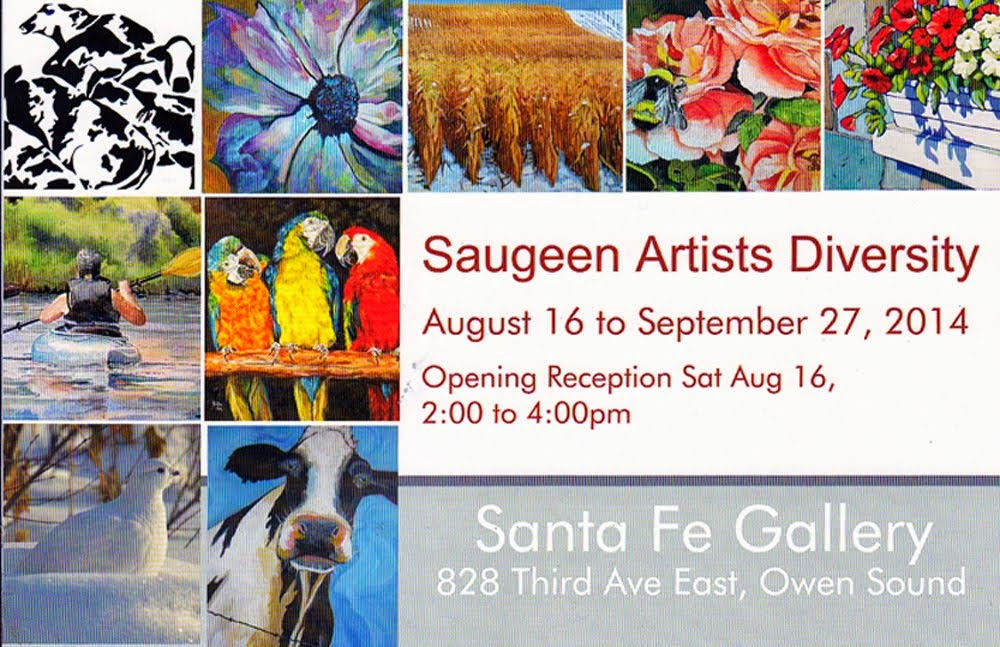 """Saugeen Artists Diversity"" Show at the Santa Fe Gallery Owen Sound..........."