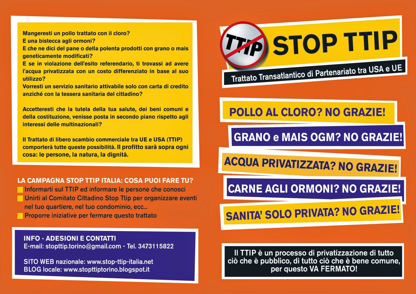 Volantino Stop TTIP