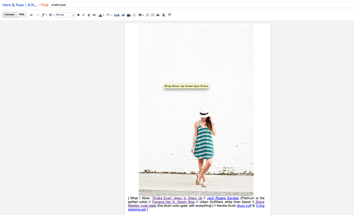 How to add hover text in blogger