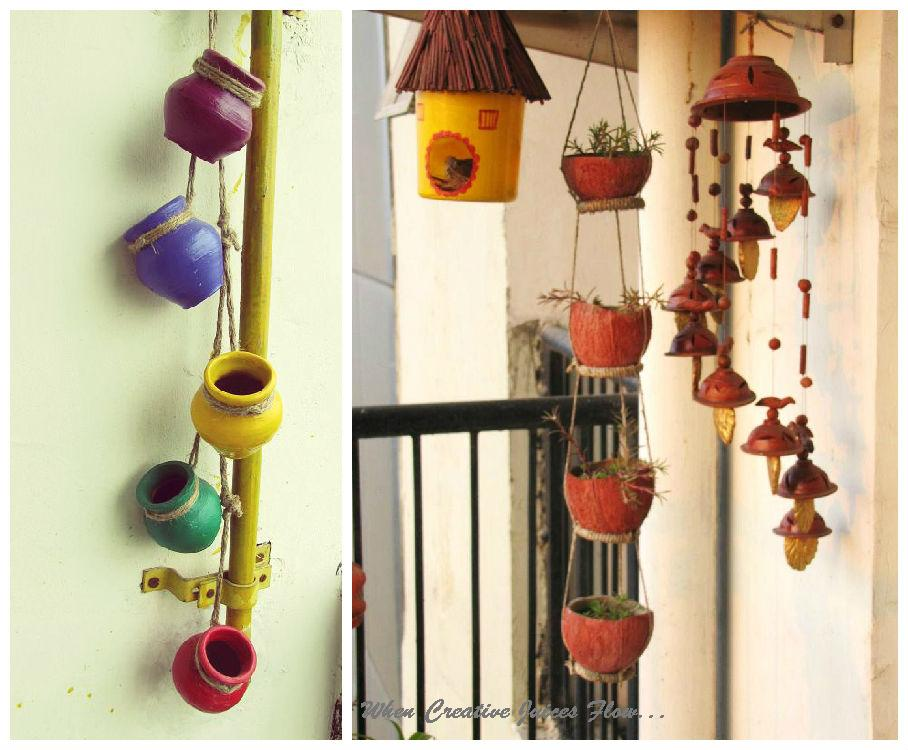 When creative juices flow welcome to my balcony garden for Balcony decoration ideas india