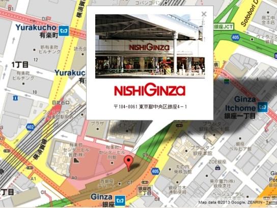 tokyo nishi ginza shopping map