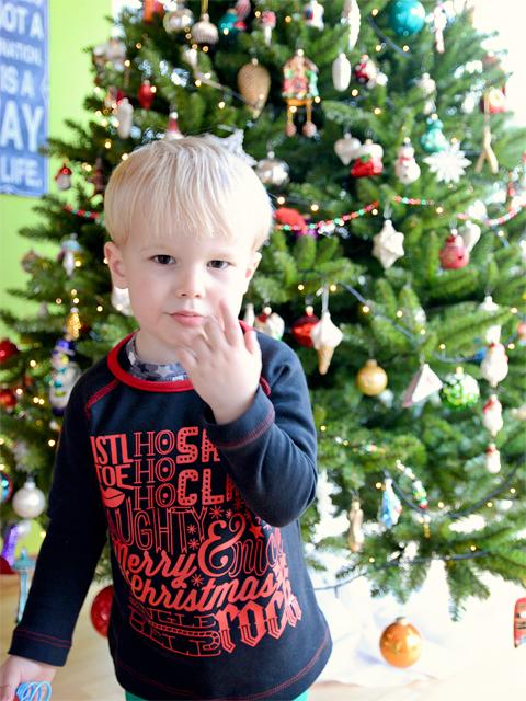 Weihnachtsshirt mit Plottermotiv für den Kurzen @frauvau.blogspot.de