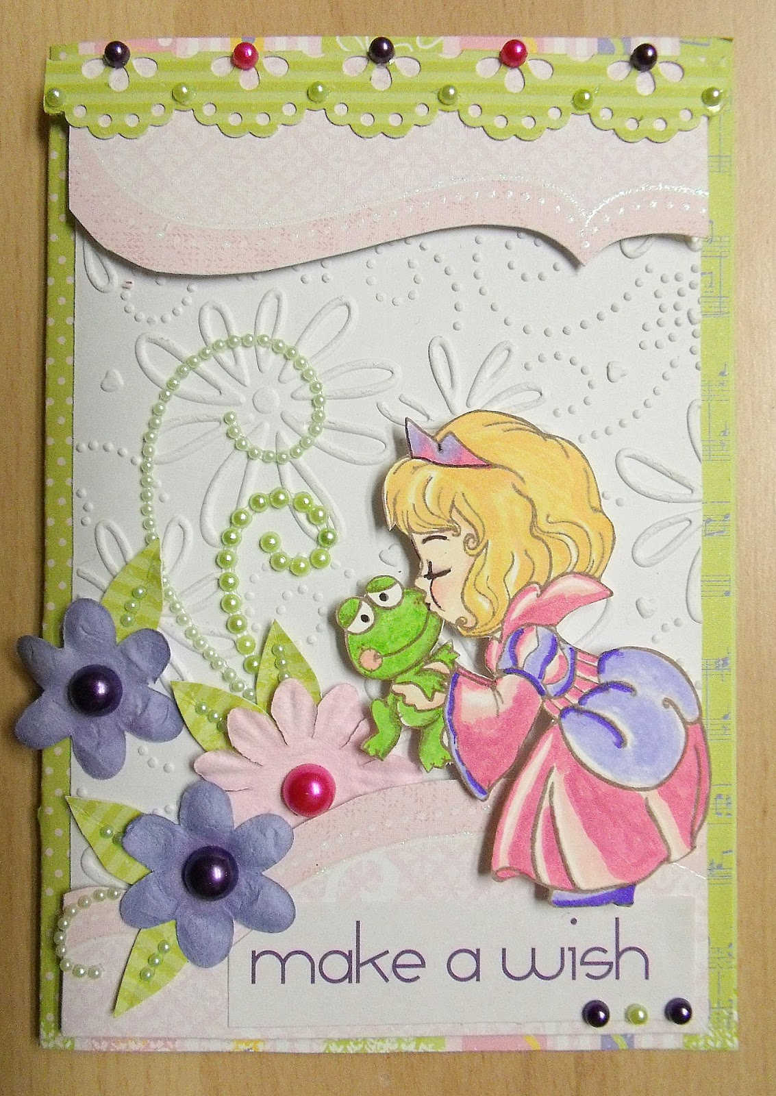 ScrapUtopia Kiss a Frog Card The Paper Variety Leap Year
