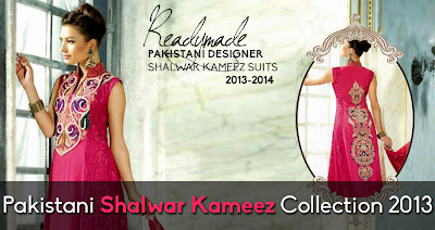 Pakistani Shalwar Kameez Collection 2013-2014 For Women