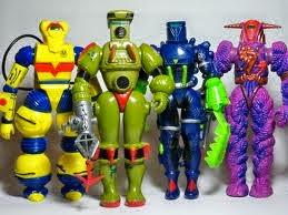 A linha de brinquedos.