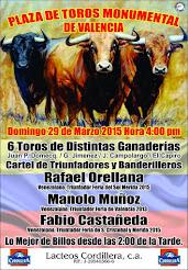 Orellana, Muñoz y Castañeda, anunciados en Valencia el 29/03.