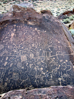 Another view of the petroglyphs on Sky Rock.