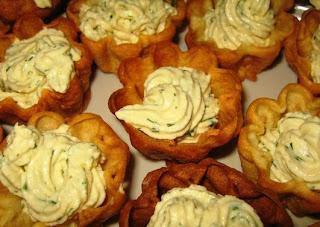 Тарталетки с сырным паштетом (кремом)