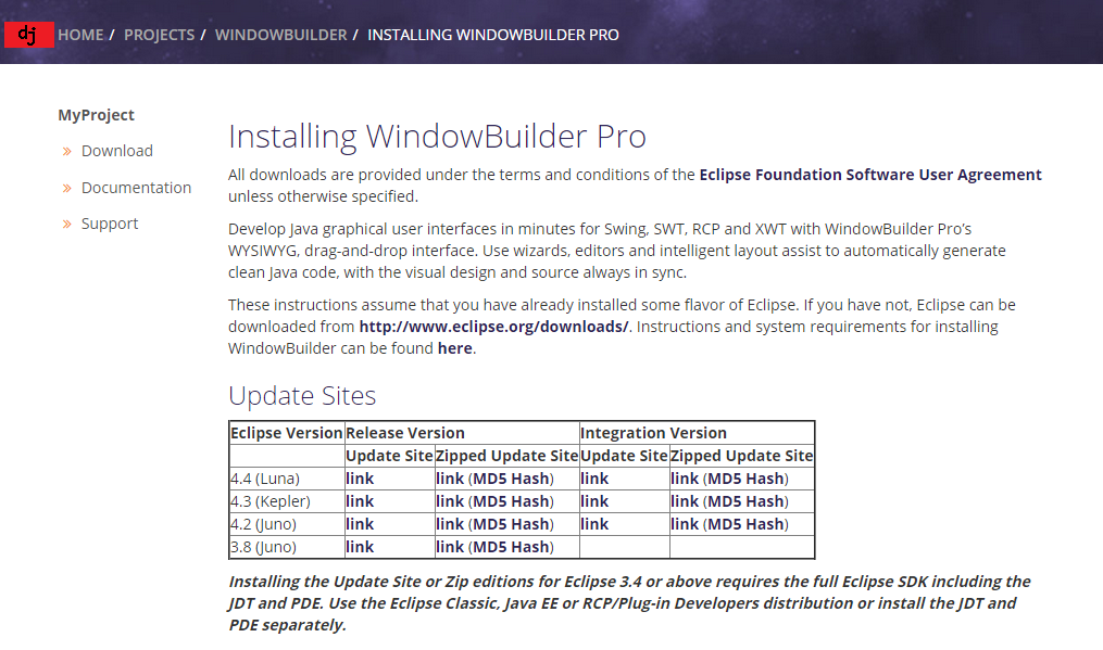 Descargar WindowBuilder