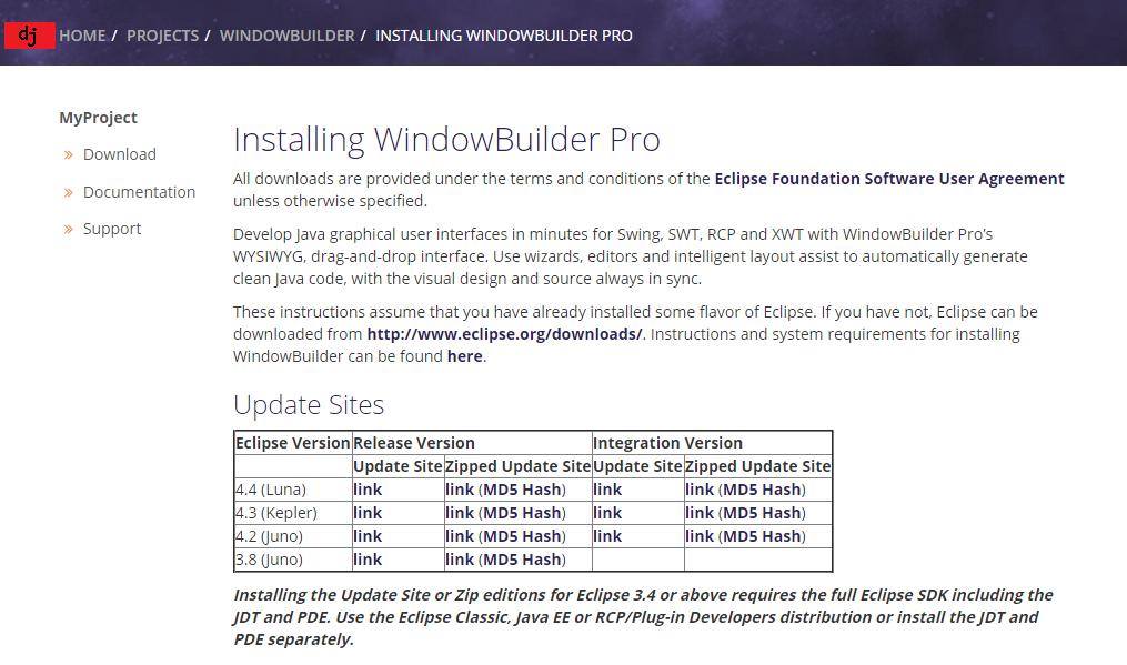 Descargar WindowBuilder