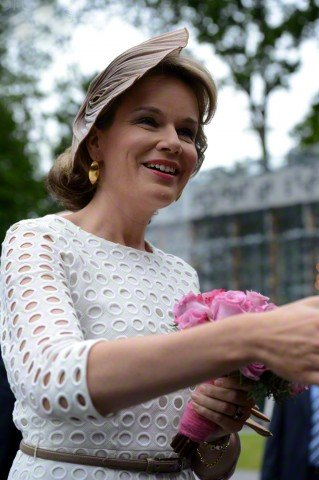 Queen Mathilde of Belgium attends the award ceremony for the laureates of the Queen Elisabeth Violin Competition 2015