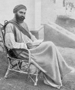 Sadhu Sundar Singh in sitting