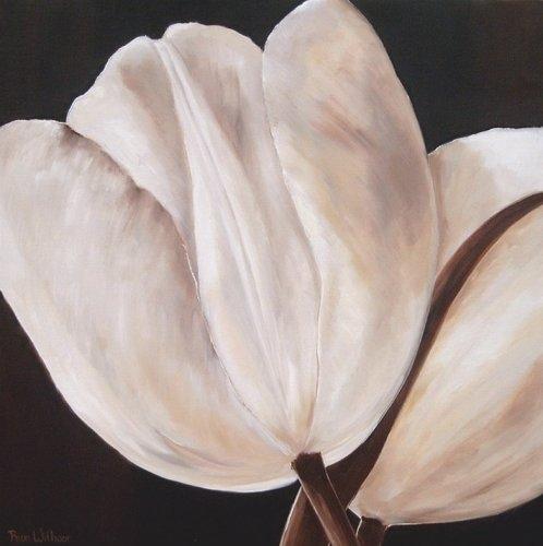 Tulipanes De Color Blanco Dibujos De Flores En Blanco Y