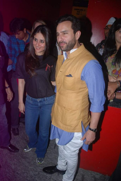 Kareena kapoor saif ali khan latest - Saif Kareena at Agent Vinod Screening at PVR Juhu