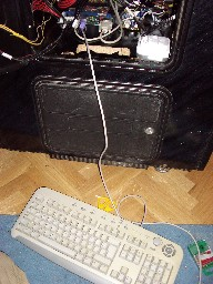 Teclado conectado para las labores de mantenimiento