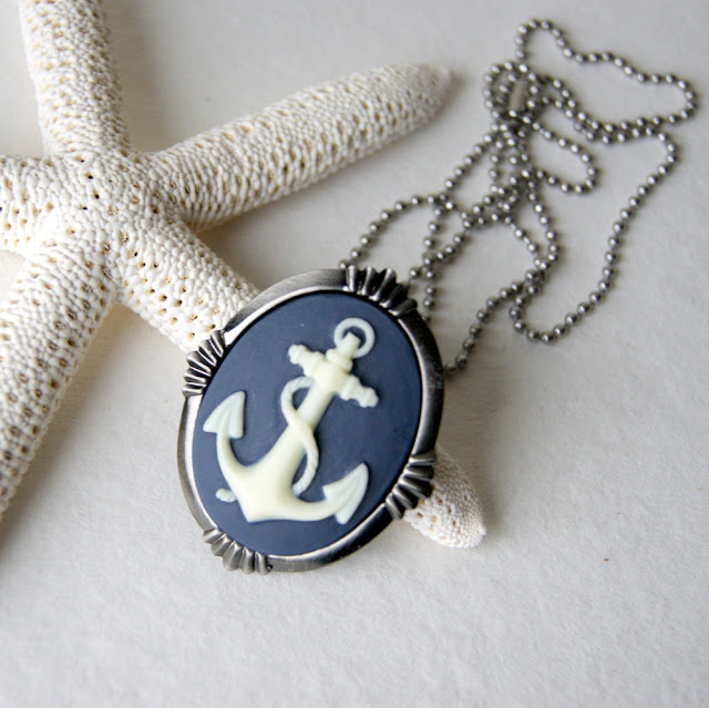 Navy Anchor Necklace6
