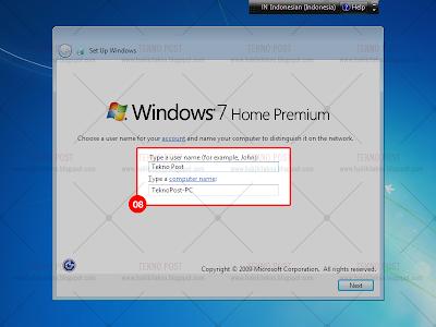 langkah langkah install windows