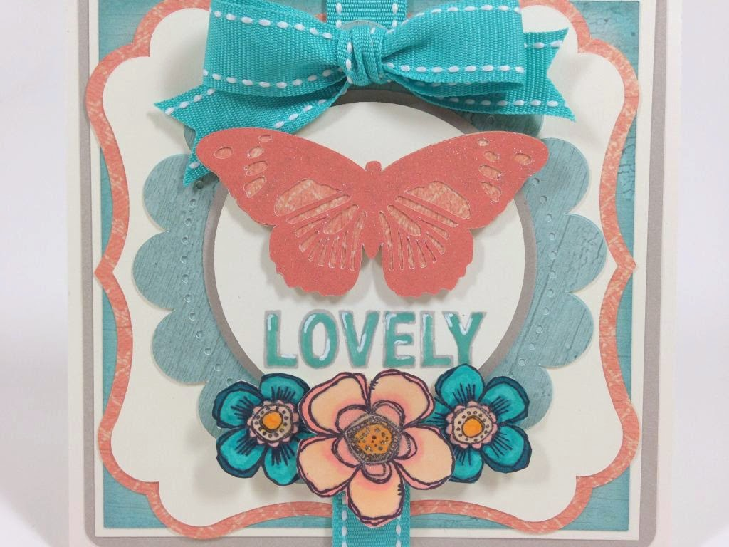 Cricut Anna Griffin Lovely Butterfly card closeup