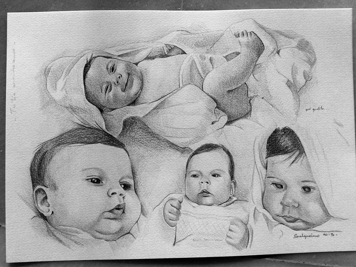 Ilustración y Pintura María José Salgueiro: 46. Retrato de bebé a ...