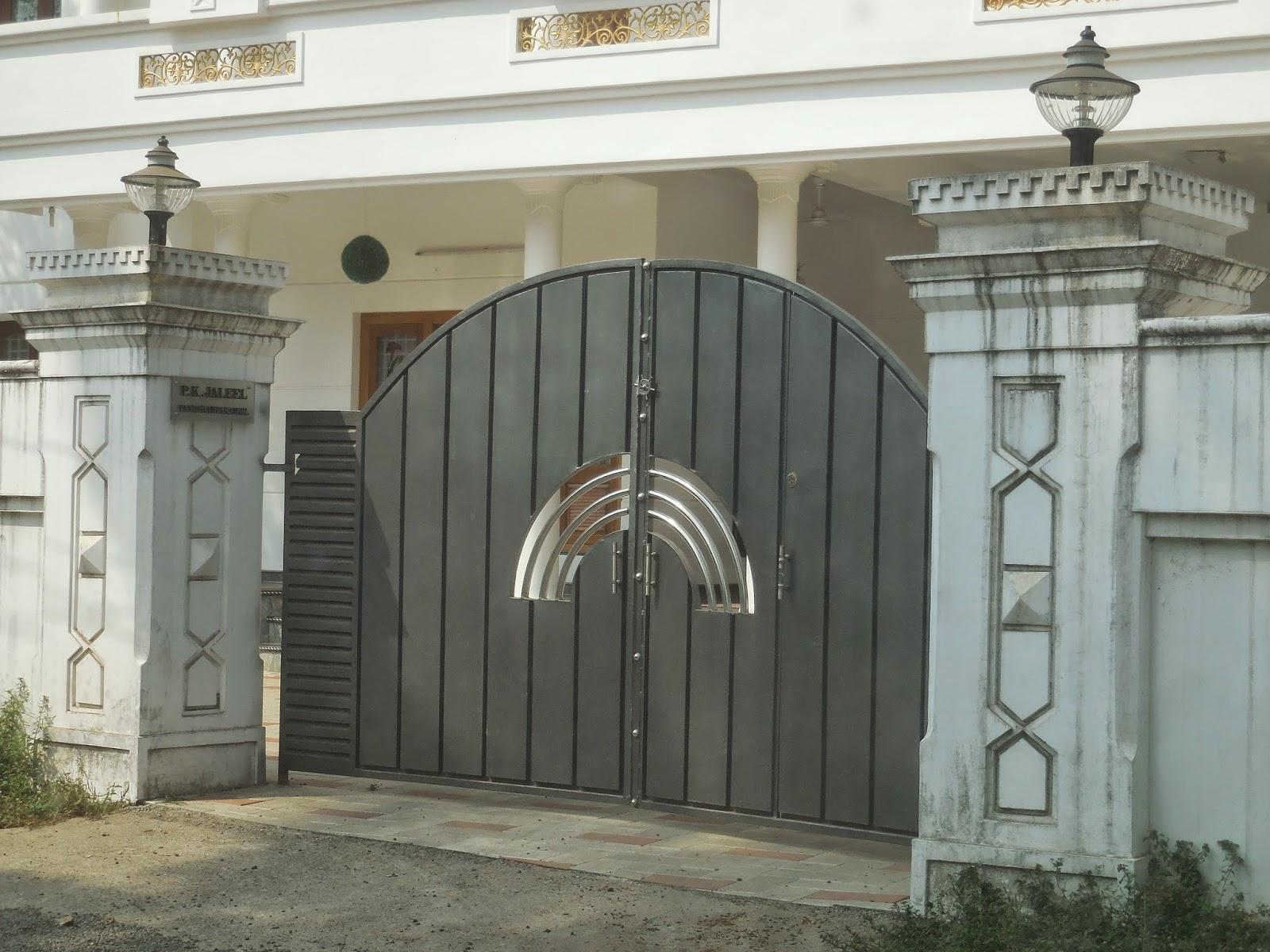 Kerala Gate Designs: House gate in Kerala