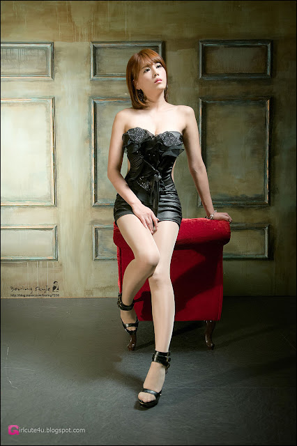 5 Lee Mi Jung in Black-Very cute asian girl - girlcute4u.blogspot.com