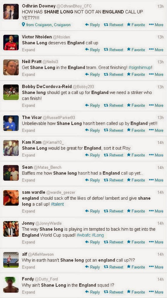 England fans ask Roy Hodgson to call up Ireland's Shane Long