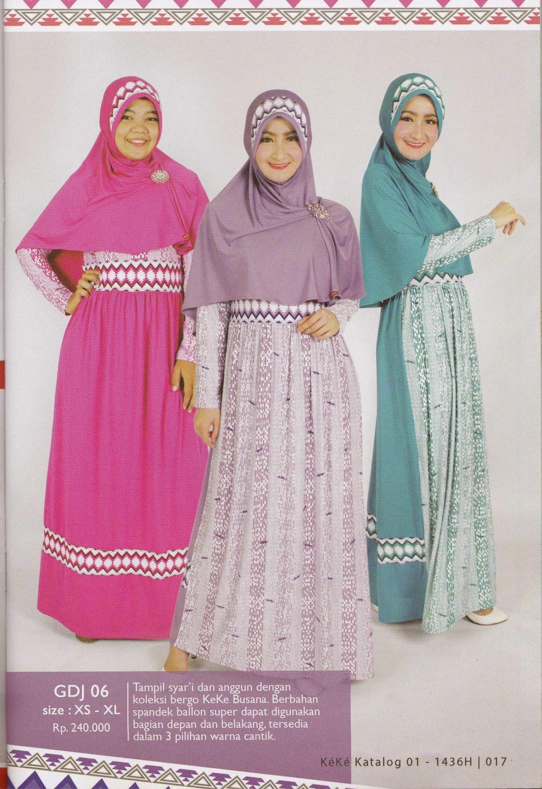 Gdj 06 Gamis Wanita Toko Busana Muslim Keke Collection