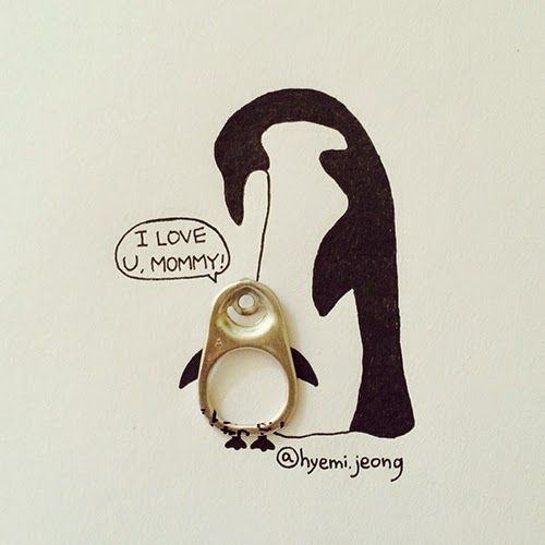 15-Penguin-Hyemi-Jeong-Everyday-Things-to-Draw-With-www-designstack-co