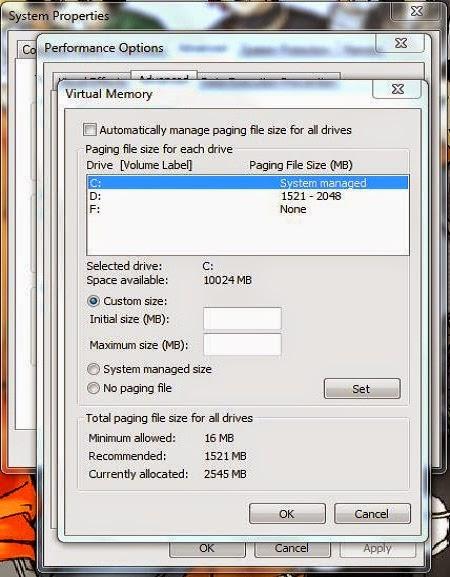 Cara Menambah Memory RAM Komputer/Laptop Dengan Hardisk