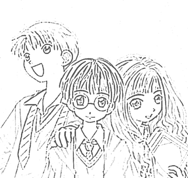 Harry Potter Coloriage title=