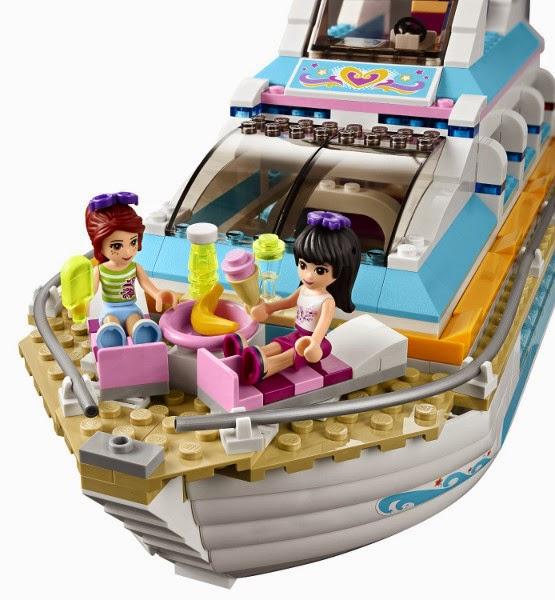 TOYS - LEGO Friends - 41015  Paseo en Yate con los Delfines  Juguete oficial | Dolphin Cruiser | A partir de 7 años