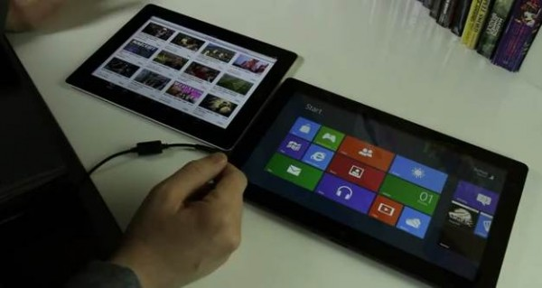 Apple ipad 2 vs windows 8 tablet image