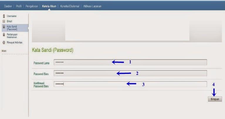 mengganti password lama menjadi baru