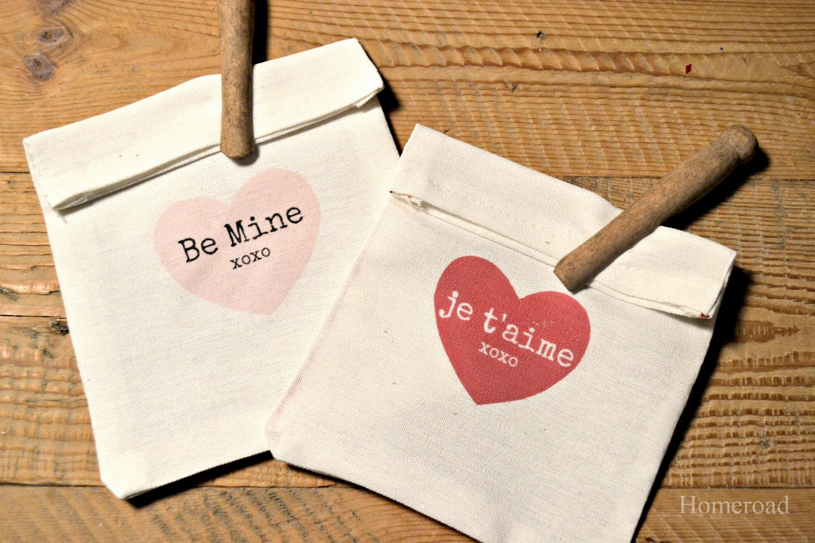 Heart Bags and Transfer Paper www.homeroad.net