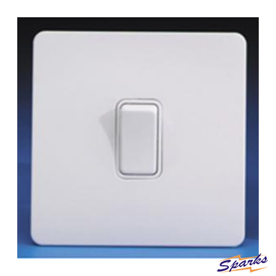 GET Ultimate GU1412WPW screwless single switch