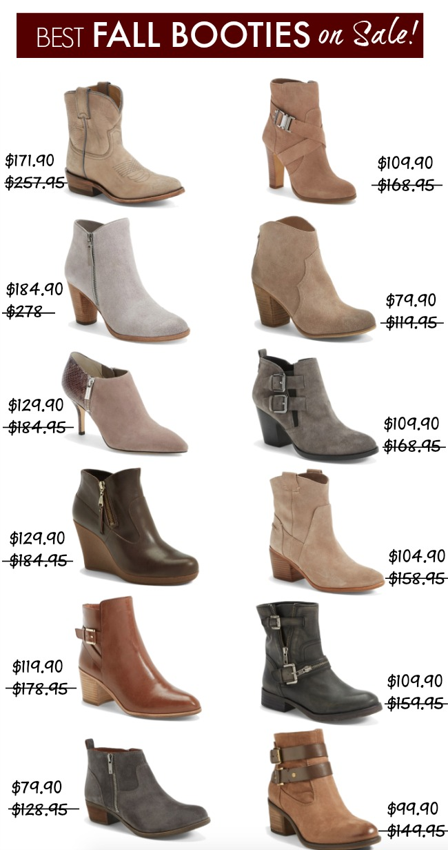 Fall Fashion - Best Fall Booties on Sale